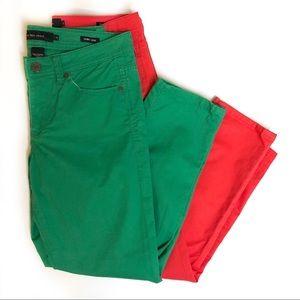 Calvin Klein skinny crop green  jeans size 6